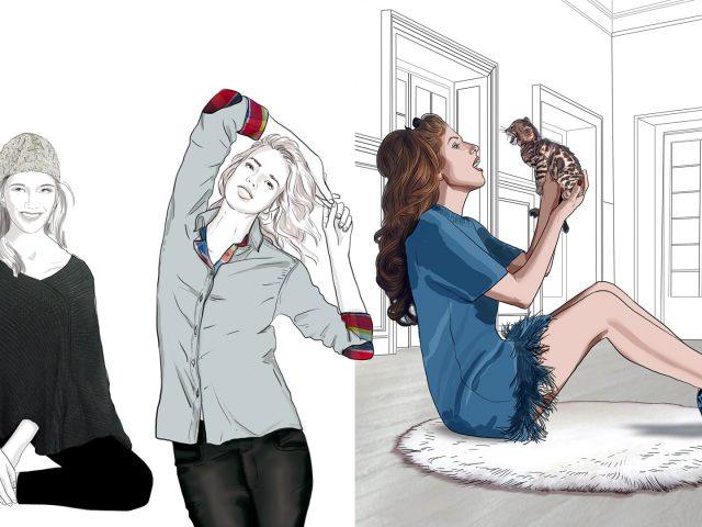 rough mode beaute corinnenicolaou agence milpat Agence illustrateur roughmen Mil Pat