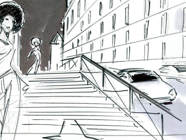 Storyboard fred peltier dior 02 agence roughman illustrateur mil pat